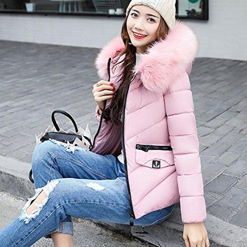 abrigo engrosamiento abrigo invierno abajo Internet Escudo Las Rosa chaqueta de delgado deletrean mujeres color ocio ZO8fx