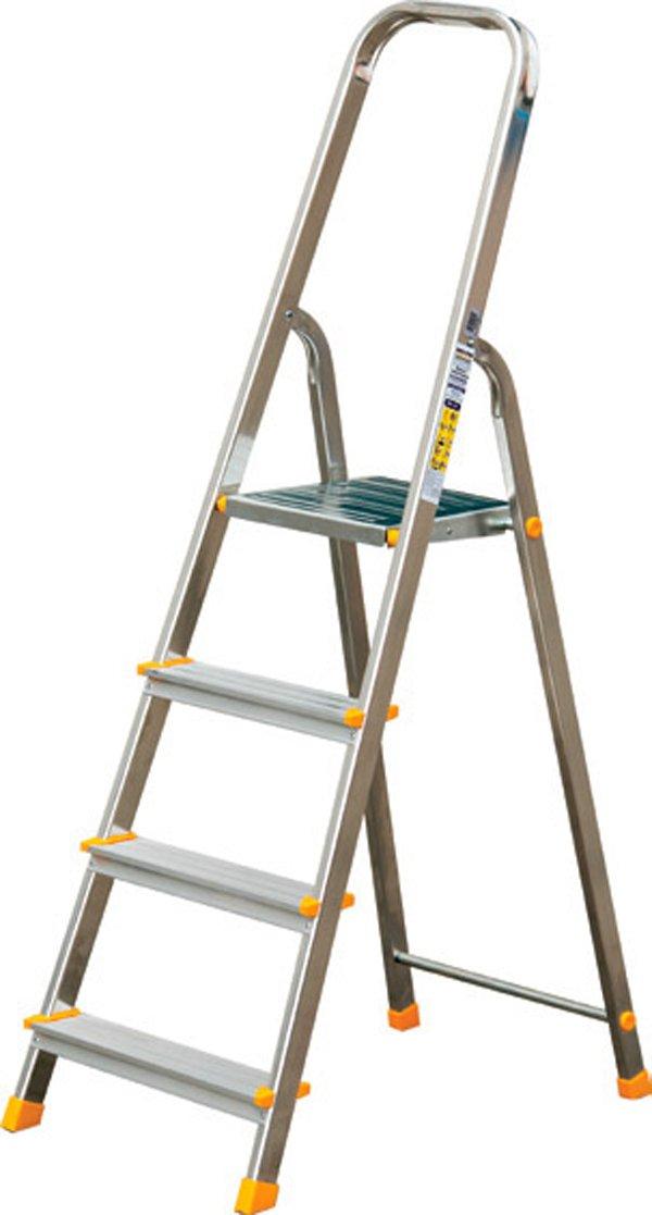 Leiter Aluleiter Stehleiter Haushaltsleiter Klappleiter Aluminium 3 bis 8 Stufen 6 Stufen verschiedene Gr/ö/ßen