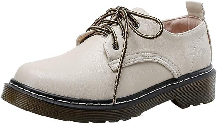 Zapatos Oxford para Mujer Clásicos Zapatos De Punta Redonda British Wind Brogues Pisos Mocasines Retro De Boca Baja Zapatos De Cuña De Plataforma Casual: Amazon.es: Zapatos y complementos