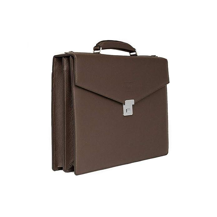 75d78d22f8 Amazon.com: Giorgio Armani Collezioni Men's Matte Grained Leather ...