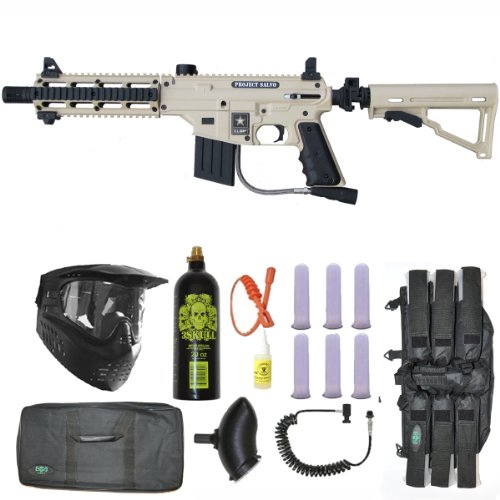 Tippmann US Army Project Salvo Paintball Gun Deluxe Package - Tan (Sniper Tippmann Rifle)