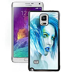 New Personalized Custom Designed For Samsung Galaxy Note 4 N910A N910T N910P N910V N910R4 Phone Case For Blue Girl Phone Case Cover