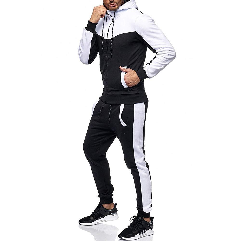 Trousers Set Running Sportswear DSstyles Men Gym Suit Hoodie Jacket Sweatshirt