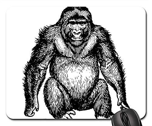 Mouse Pads - Ape Wild Sitting Mammal Hairy Gorilla Animal