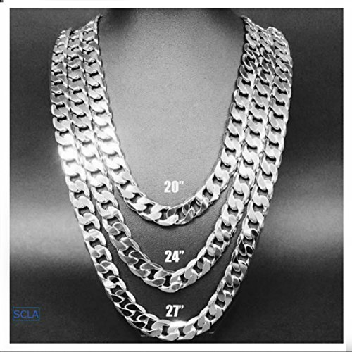 White-Gold-chain-necklace-91MM-18K-Diamond-cut-Smooth-Cuban-Link-with-a-USA-made