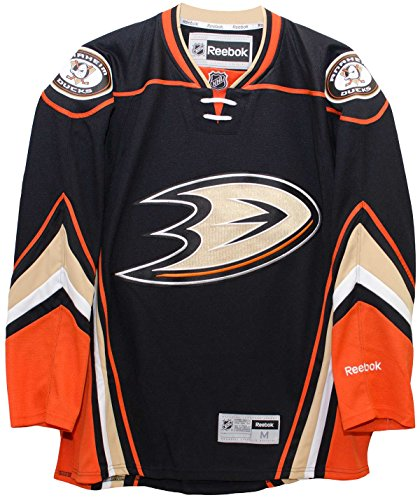 (Anaheim Ducks 2015-16 Home Black Reebok Premier Replica Jersey (Large))