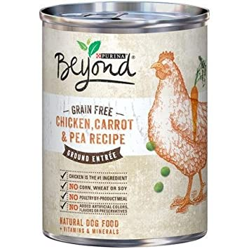 Amazon purina beyond grain free chicken carrot pea recipe purina beyond grain free chicken carrot pea recipe ground entree dog food 13 oz forumfinder Images