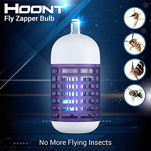 Hoont Bulb Socket Bug Zapper Powerful Electric Insect Killer Traps Mosquitoes Flies and Other Annoying Gnats - Fits in 110V E26/ E27 Light Bulb Socket for Indoor Outdoor Porch Patio Backyard