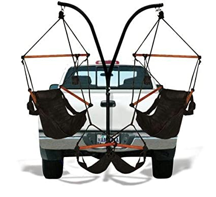 Bon Trailer Hitch Stand And 2 Black Hammaka Chairs Combo   WD