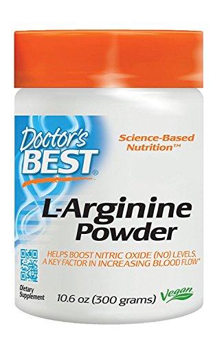 Arginine Powder - Doctor's Best L-Arginine Powder, Non-GMO, Vegan, Gluten Free, Soy Free, Helps Promote Muscle Growth, 300 Grams
