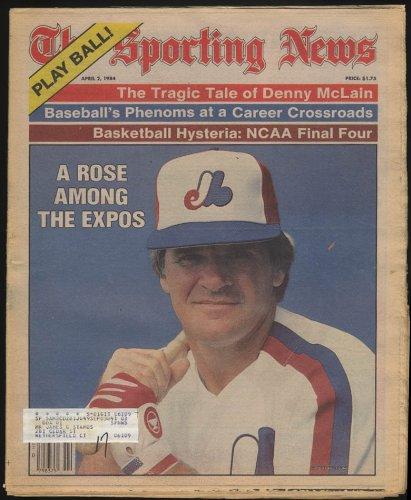 SPORTING NEWS Pete Rose Denny McLain + 4/2 1984
