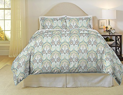 (Pointehaven 200 Thread Count Percale Duvet Set, Full/Queen, Cypress)