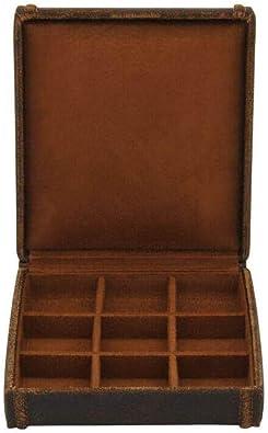 9 caja Gemelos, cubano, Havana de piel color marrón - marrón 23 ...