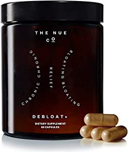 The Nue Co. - Debloat+ Supports Natural Gut Health + Bloating Relief (60 Capsules)