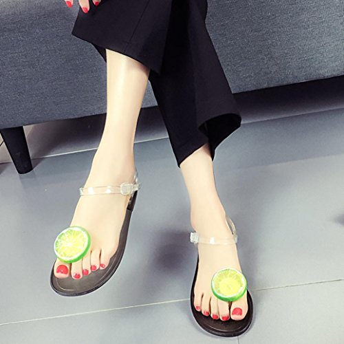 Strawberry Lemon Comfortable Beach Leisure Summer Simulation Decor Women Slippers Ladies E Flat Transer® Shoes Sandals Lemon 1w6tvzq
