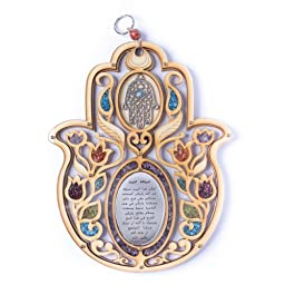 Evil Eye Hand Of Fatima Wood Wall Hanging Hamsa Muslims Arabic Home Bless