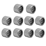 uxcell® HK1010 10mmx14mmx10mm Full Complement Drawn Cup Needle Roller Bearing 10pcs