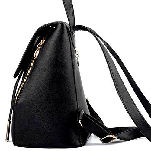 Amazingdeal365 - Bolso mochila  para mujer negro negro negro