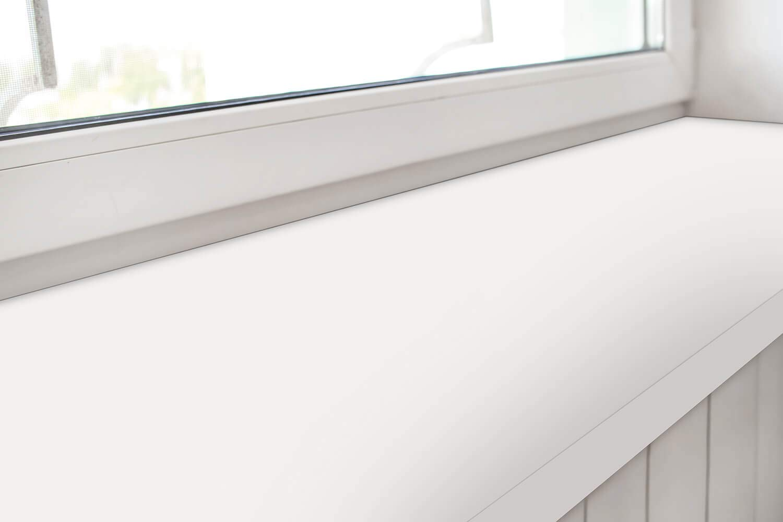 L/änge Ausladung 250-2000 mm Width Range Length Range Kantenschutz MDF Ice White empasa Fensterinnenbank Fensterbank Design-Fensterbank INNEN inkl 150-400 mm