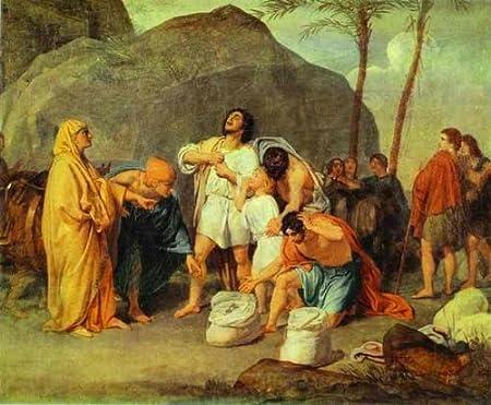 Artisoo la hermanos de José encontrar la plata Cáliz en pack de Benjamin – Pintura al óleo reproducción 30