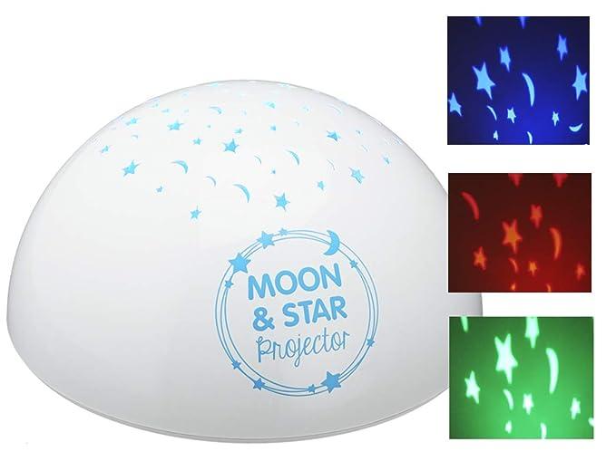 Bada Bing - Lámpara LED de noche con proyector de estrellas y luna ...