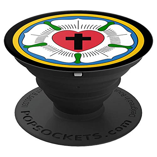 Lutheran 95 Theses Martin Luther Rose Reformation Concords - PopSockets Grip and Stand for Phones and Tablets (Concord Telephone)