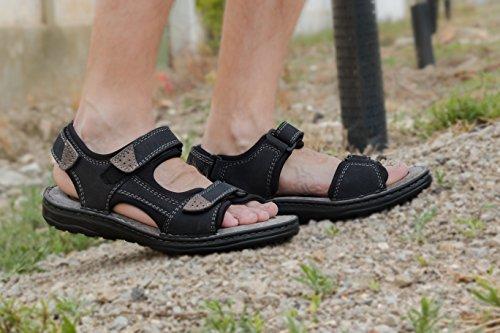 Blu da Man Navy da Uomo da scuro Hiking di Cuoio Sandali Estivi da Sandals Uomo Zerimar Trekking Sandali Uomo Sandali Uomo Sandali da 1nCRqU6