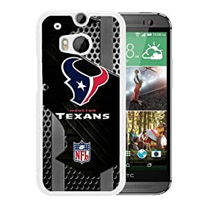 HTC ONE M8 Case,Houston Texans White For HTC ONE M8 Case