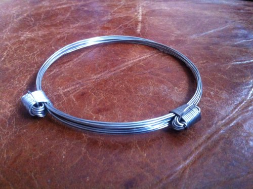 Elephant Hair Bracelet with Stainless Steel