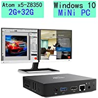 Mini PC Windows 10, 2GB/32GB Intel Atom x5-Z8350(2M Cache, up to 1.92 GHz),HD Graphics 400,4K/1000M LAN/2.4G+5.8G WIFI/BT4.0 (2+32GB/Windows 10 Home/Z8350)