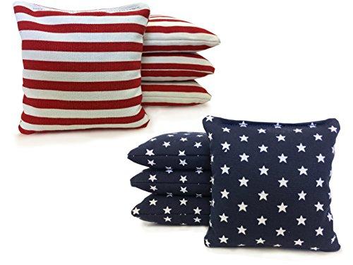 Johnson Enterprises Handmade Stars and Stripes 8 Regulation Cornhole Bags