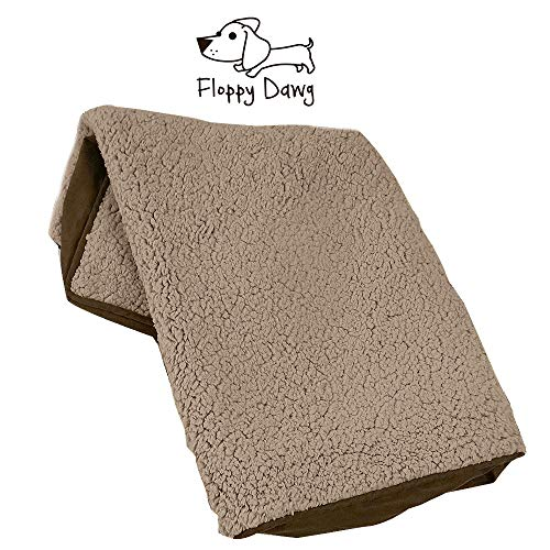 Floppy Dawg Universal Dog Bed Cover Replacement Beige/Brown XL