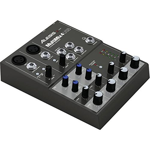 Alesis Usb Mixer - Alesis MultiMix 4 USB Four-Channel USB Mixer