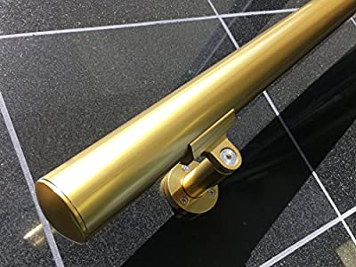 "B52 Gold Anodized Handrail Aluminum Stairs Kit 4 Ft and 1.6""diam"