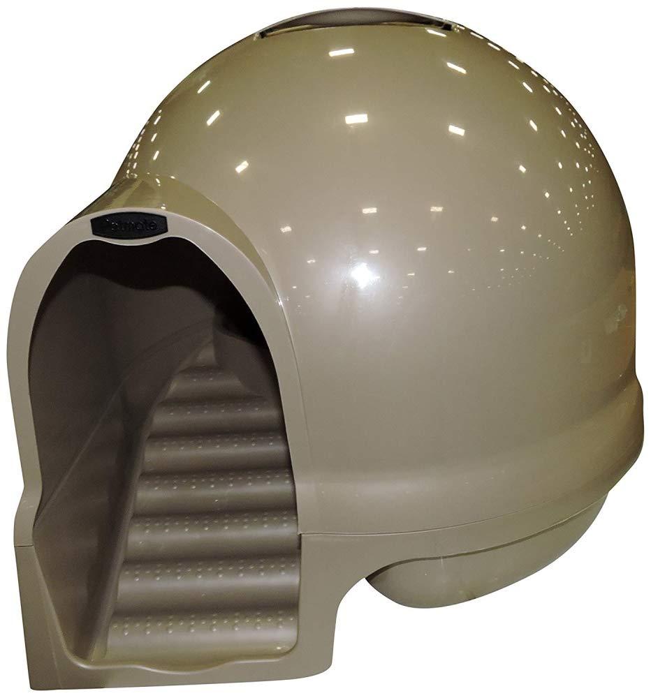 Titanium Petmate Booda Dome Clean Step Cat Litter Box 3 colors, Titanium