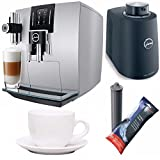 Jura J6 Automatic Coffee Machine (Brilliant Silver) + Free Jura Chilled Milk Container, Jura Smart Filter Cart