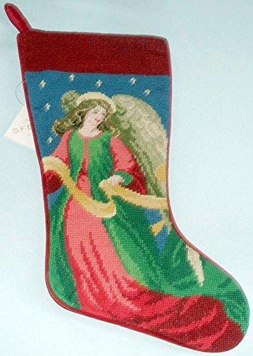 Needlepoint Christmas Stockings.Amazon Com Sferra Angel Christmas Needlepoint Stocking
