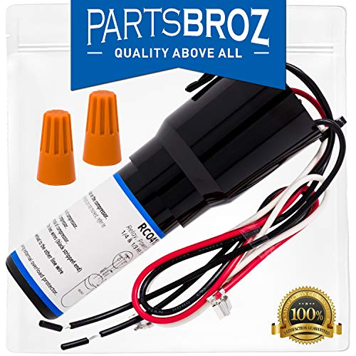 (RCO410 3-in-1 Hard Start Capacitor Kit for Freezer & Refrigerator Compressors by PartsBroz - Replaces Part Numbers TJ90RCO410, AP4503017, 600-410, ERP410, HS410, RC0410, RCO-410, RCO410)