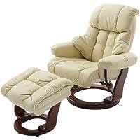Robas Lund silla con crema de cuero Calgrey