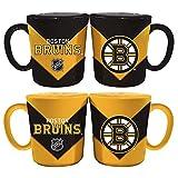 Memory Company NHL Boston Bruins Chevron Salt & Pepper Shaker Mugs, One Size, Multicolor
