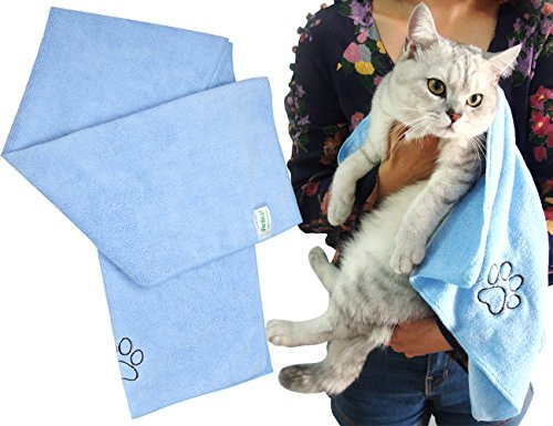ForNeat Pet Towel - Ultra Absorbent Microfiber Pet Drying Towel Bath Towel for Dogs & Cats - Dries Your Pet Faster!(16