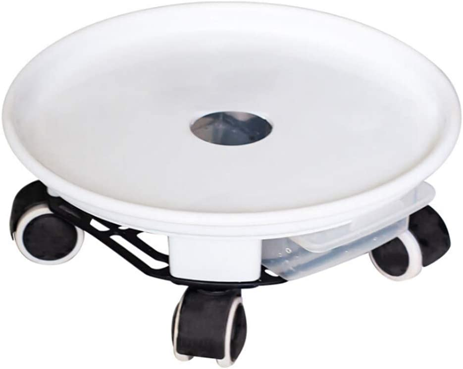 WDDH Plant Caddy,Resin Round Plant Dolly Trolley Saucer Moving Tray Pallet,Indoor Rolling Planter Dolly with Wheels and a Water Container for Indoor Outdoor Home Garden,8.1inch
