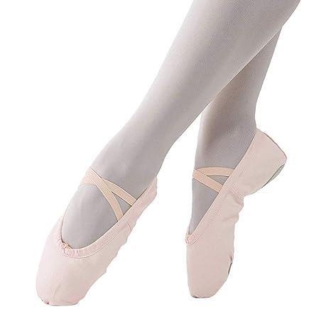 Imixcity Scarpette da Ballerina Scarpe da Ballo Mocassini Danza Classica Scarpe per Balletto Ginnastica Yoga