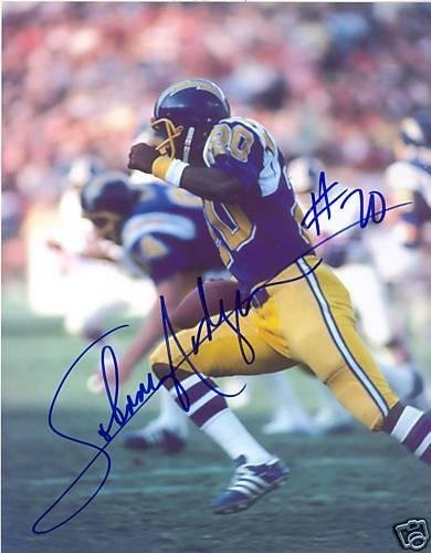 Johnny Rodgers Photograph - Johnny Rodgers Autographed Photograph - Sd Chargers 8x10 - Autographed NFL Photos