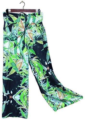 Hawaiian Floral Palazzo Pants Blueberry Wedding Resort Beachwear XL/XXL by Cannaflage Designs