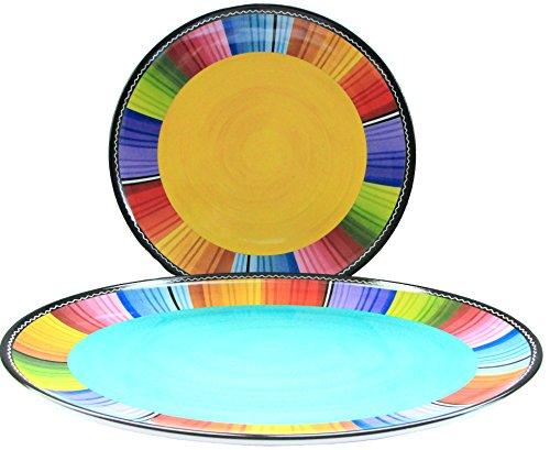 Certified International Melamine Serape Platter Set, 2 Piece