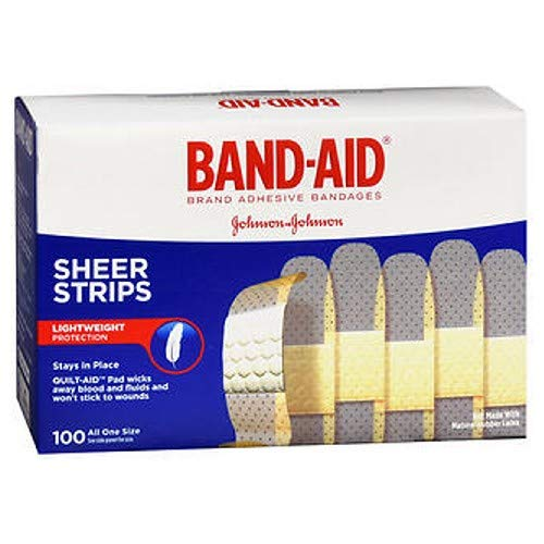 BAND-AID Bandages Comfort Sheer 3/4 Inch 100 Each (Pack of 2)