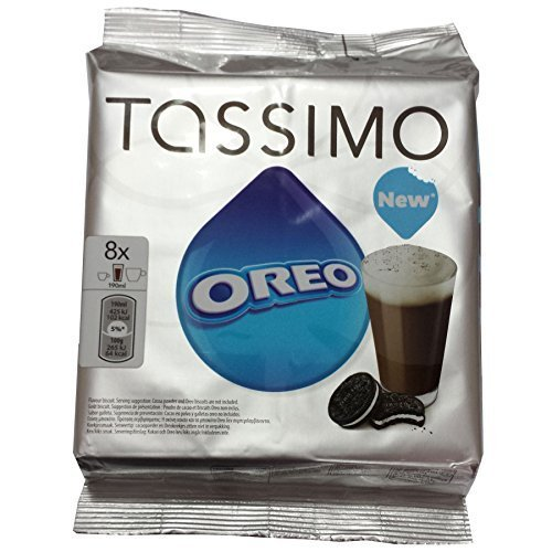 TASSIMO T-DISCs (8 Servigs) - OREO = 8 Count (Pack of 2) by Oreo (Disc Oreo T)