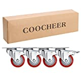3'' Coocheer PVC Heavy Duty Swivel Caster Wheels