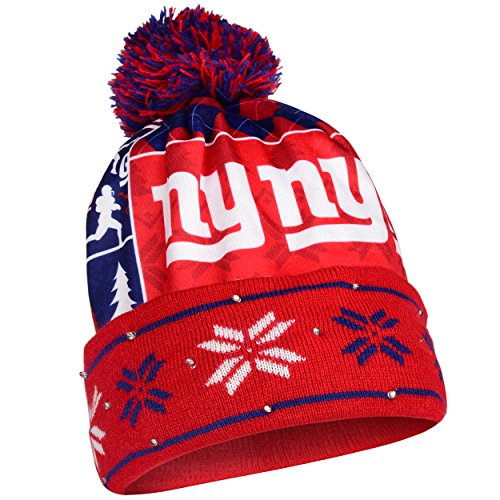 FOCO New York Giants Exclusive Busy Block Printed Light Up Beanie by FOCO